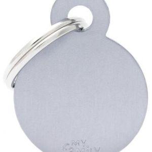 Hundetegn Basic Aluminium Small circle grå