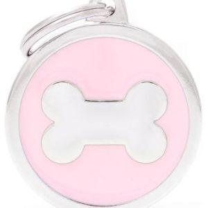 Hundetegn Classic Bone Big circle pink