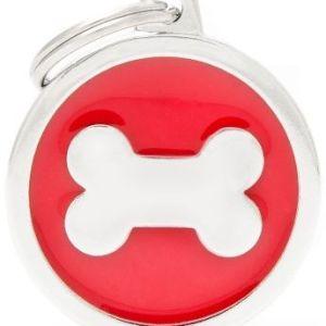 Hundetegn Classic Bone Big circle rød