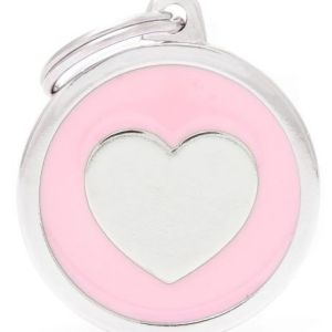 Hundetegn Classic Heart Big circle pink