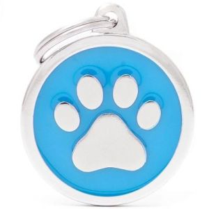 Hundetegn Classic Paw Big circle lyseblå
