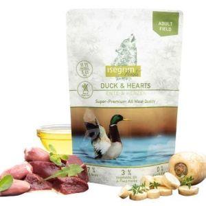 Isegrim Roots vådfoder Duck & Hearts Grainfree 410g