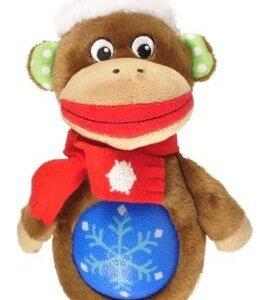 Juleabe med gummibold i maven