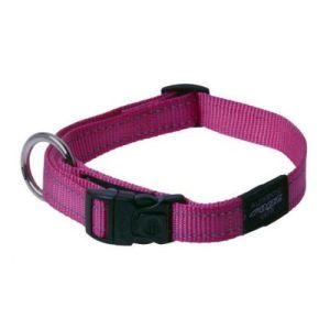 Rogz halsbånd Nitelife pink, flere størrelser 34-56 cm