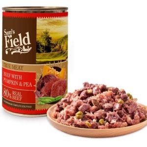 Sam´s Field Kornfri vådfoder Okse, græskar og ærter 400g