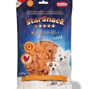 StarSnack Mini Hunde Snack Godbidder - Med bløde Kyllinge Hjerter - 70g - 69,1% Kød - 3% Fedt - - - -