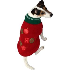 Striktrøje til hunden Ho Ho Ho, vælg størrelse 30 cm