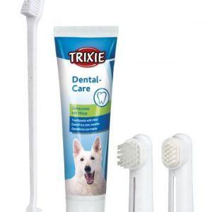 Tandplejesæt til hund