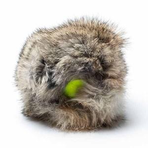 Tennisbold med kaninpels til hunde