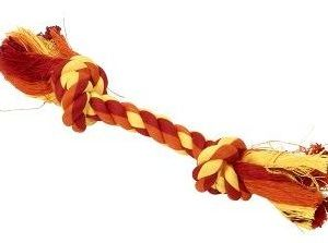 Buster Colour dental rope 15cm orange/gul