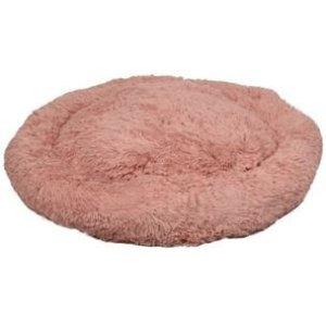 Flamingo Donut Fluffy Hundeseng - Old Pink- Ø90cm