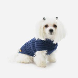 Blå strikket Sweater fra Fashion Dog (art.303)