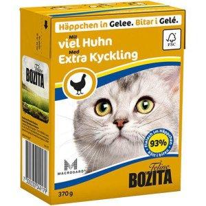 Bozita Katte Vådfoder - Med Kylling Bidder i Gele- 370g - Tetra