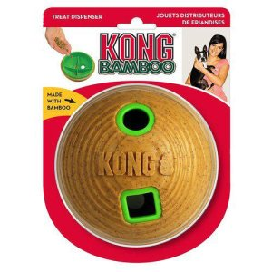 Kong Hunde Aktivitetslegetøj Bamboo Feeder Bold - Ø12cm
