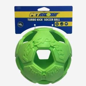 PetSport Turbo Kick Solid fodbold med plads til godbidder - 4 størrelser