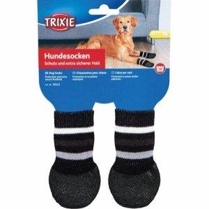 Trixie Hundesokker Sort Non-slip - 2stk
