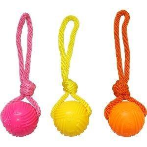 Armitage Selvlysende Hundelegetøjs Bold - Med Reb - Flere Farver - Ø6cm