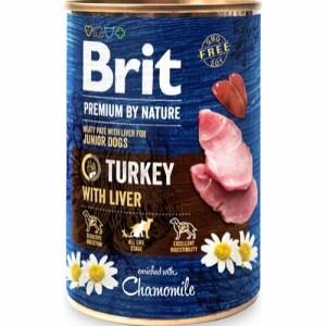 Brit Premium By Nature dåsemad Turkey w/Liver, 400g