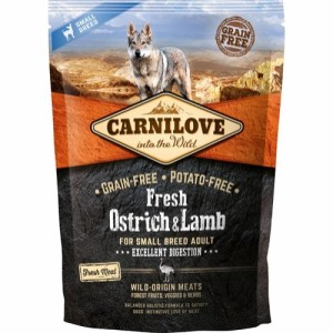 Carnilove Adult Small Breed Ostrich & Lamb, 1.5 kg