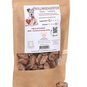 EASY BARF Kyllingehjerter til hund - Frysetørret 50 g