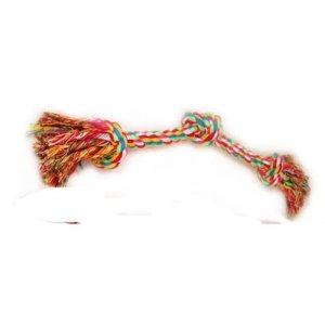 Hundelegetøjs Tov - 35cm - Flettet med 3 Knuder