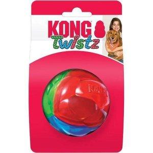 Kong Hundelegetøjs Twistz Bold - Ø7,5cm - Large