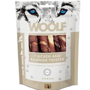 Woolf Hunde Snack Chicken & Rawhide Twister - 100g