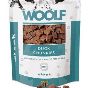 Woolf Hunde Snack Godbidder - Med Ande Chunkies - 100g - 93% Kød