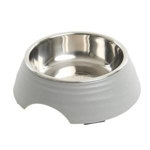 Buster frosted ripple madskål, grå-L