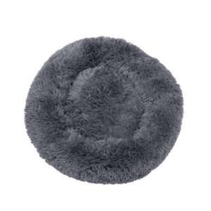 Fluffy hundeseng grå-S