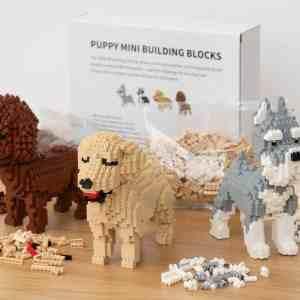 Hundehvalp Mini 3D-byggesæt - Golden Retriever