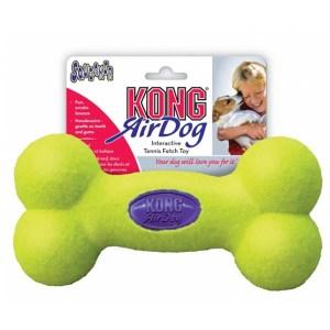 KONG AirDog Squeaker Bone tennisbold-Medium