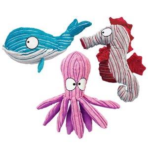 KONG CuteSeas Hundebamse-Blæksprutte-S