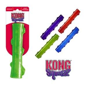 KONG Squeezz Stick-Large-Blå