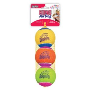 Kong SqueakAir Hundelegetøjs Fødselsdags Tennisbolde - 3stk - Ø6cm - Med Pivelyd, - - - -