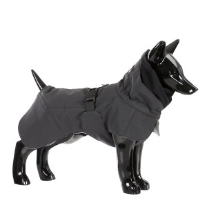 Reflekternde hundevinter jakke sort-Ryg 35 cm