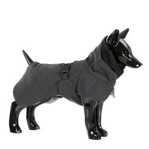 Reflekternde hundevinter jakke sort-Ryg 65 cm