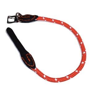 Rundt hundehalsbånd med refleks Orange-30
