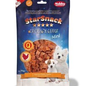 StarSnack Mini Hunde Snack Godbidder - Med Blød Kylling og Gulerod - 70g - 67,3% Kød - 3,5% Fedt - - - -