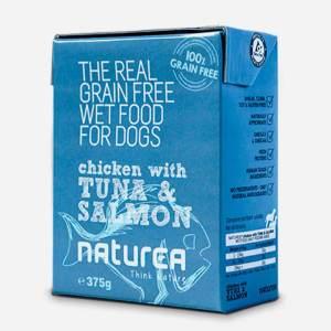 Vådfoder med Kylling, Tun og Laks