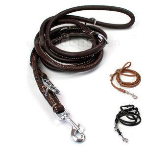 WALKER rund dressurline i læder-Sort-Ø: 6 mm