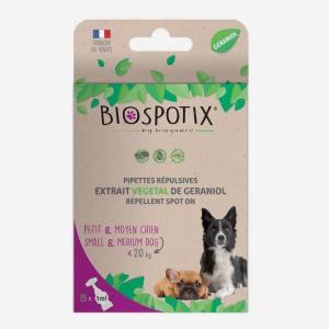BIOSPOTIX pipetter - beskyt din hund imod lopper, flåter og tæger - til hunde (under 20 kg)