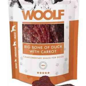 Woolf Hunde Snack Godbidder Store Ben - Med And og Gulerod - 100g - 85% Kød
