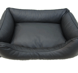 Hundeseng Nappa sort 90x75cm