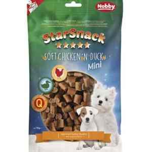 StarSnack Mini Hunde Snack Godbidder - Med Kylling og And - 70g - 66,6% Kød - - - -