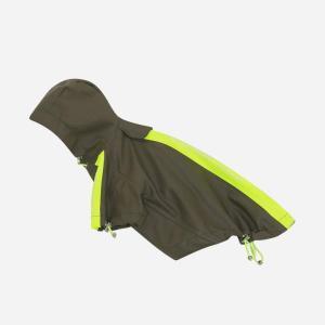 Vandtæt regnjakke m/velcroluk & justerbar hætte - Army (KR02)