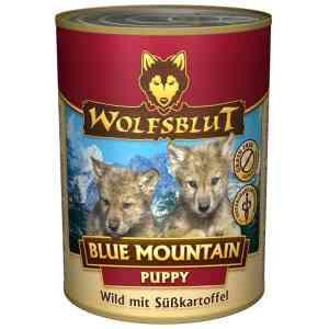 WolfsBlut Blue Mountain Puppy dåsemad, 395 gr.