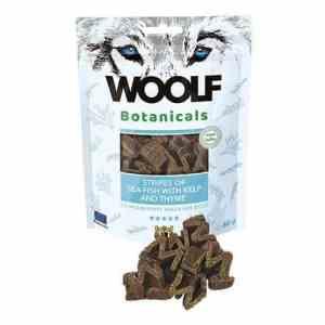 Woolf Botanicals Hunde Snack Godbidder - Med Fiske Stripes & Tang - 80g