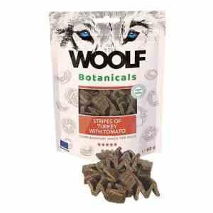 Woolf Botanicals Hunde Snack Godbidder - Med Kalkun Stripes & Tomater - 80g