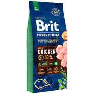Brit Premium by Nature tørfoder - Junior XL - Kylling